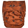 Natural Snap-In Leaves Red Cloth Diaper