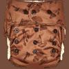 Natural Snap-In Mushrooms Brown Cloth Diaper