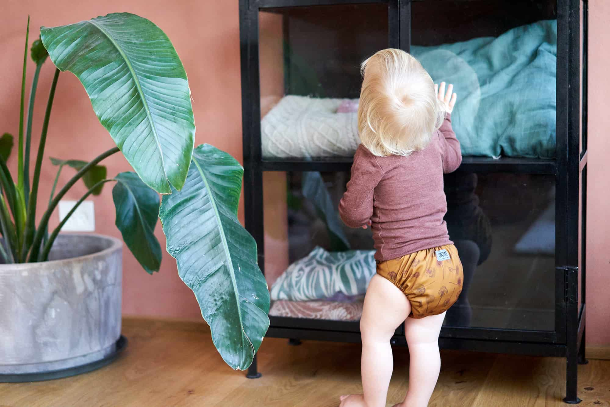 Natural Snap-In Dandelions Gul Stofble Baby