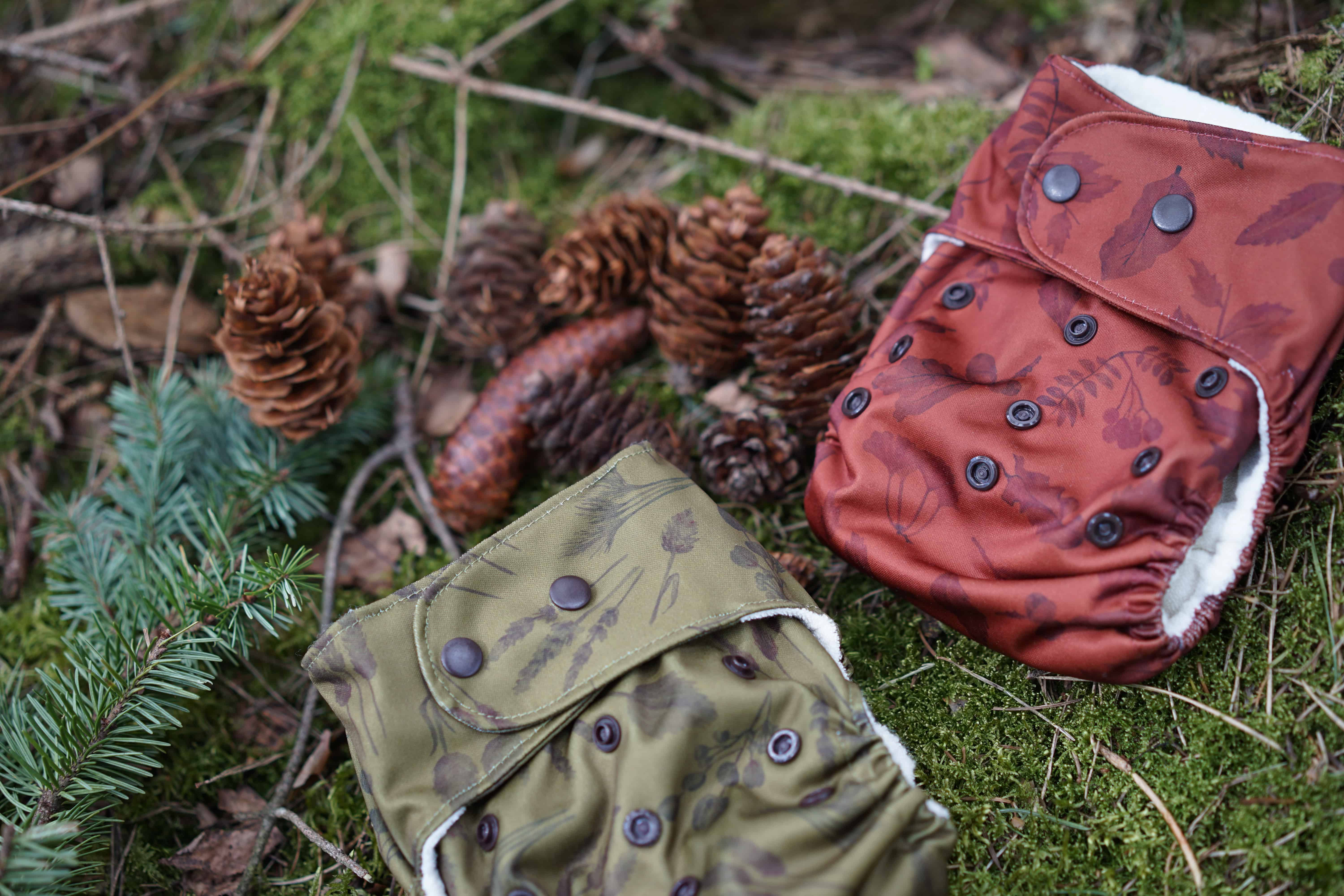 cloth diapers in the forest
