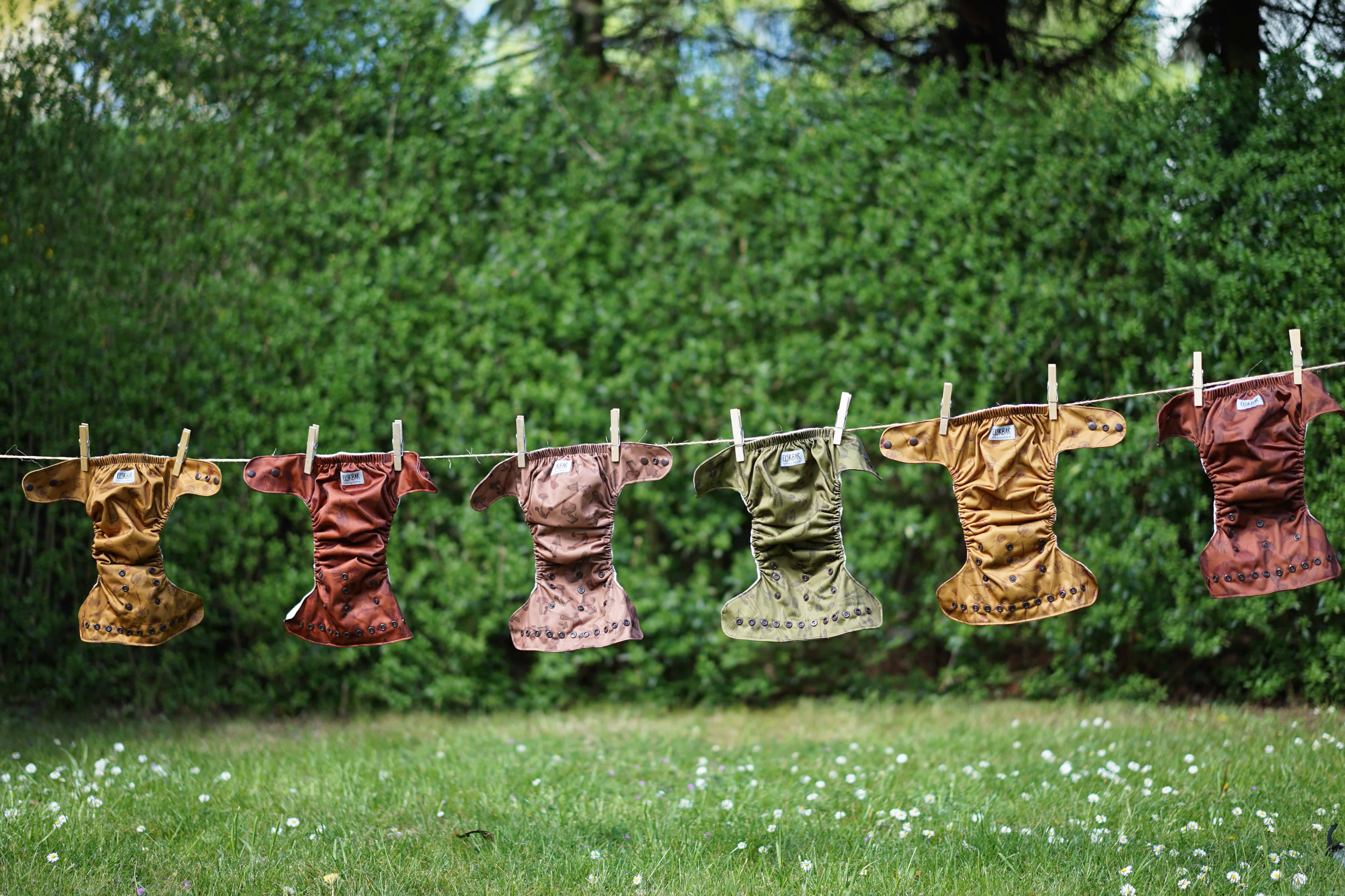 Cloth diapers drying