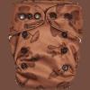 Natural Newborn Mushrooms Brown Cloth Diaper