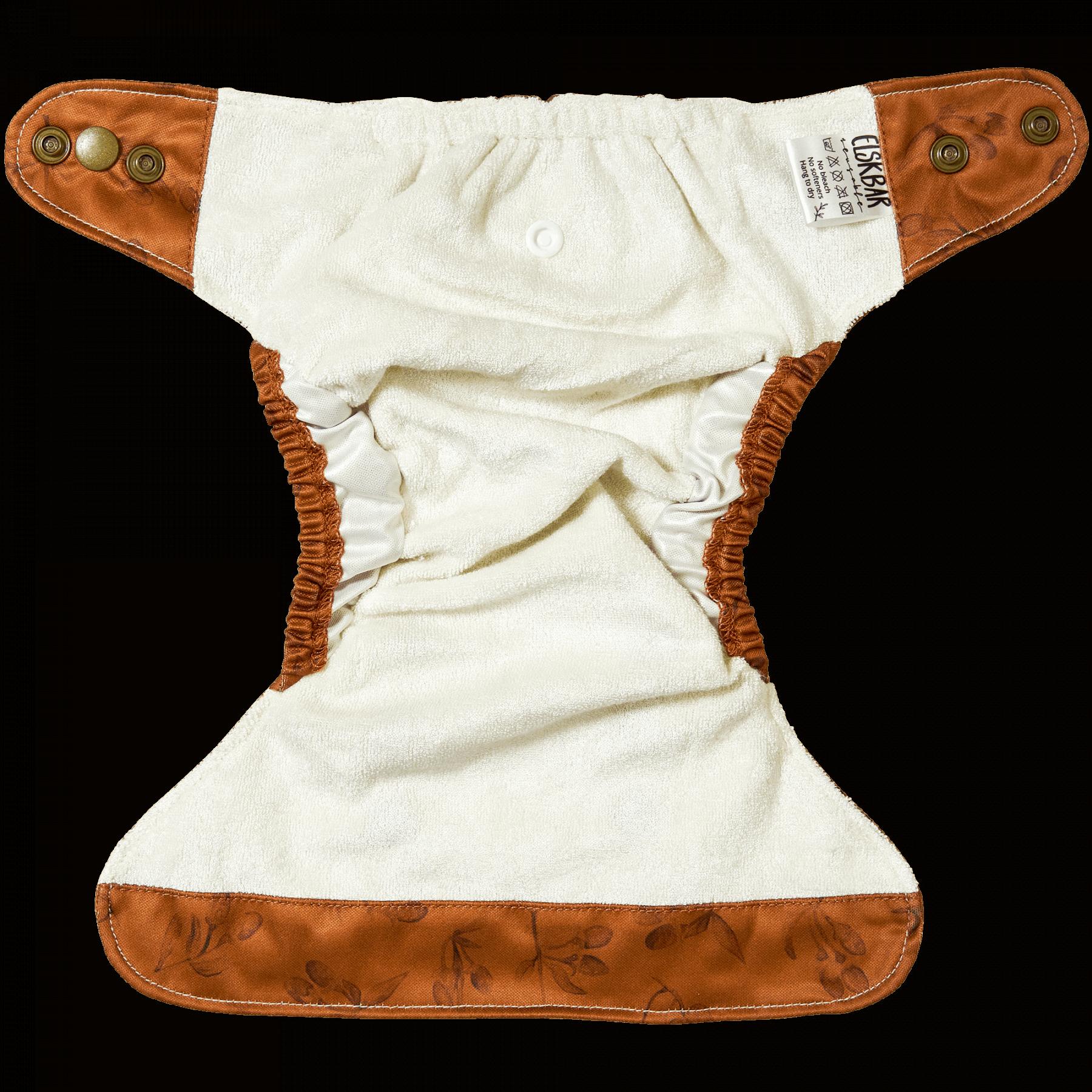 Natural Newborn goji cloth diaper Inside