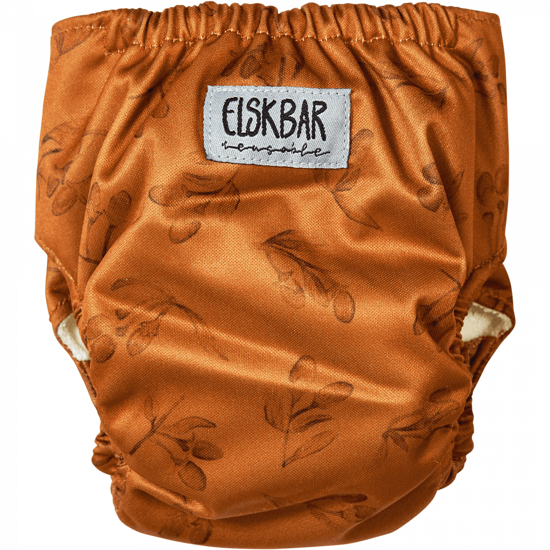 Natural Newborn goji cloth diaper back