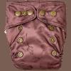 Natural Newborn lotus cloth diaper front