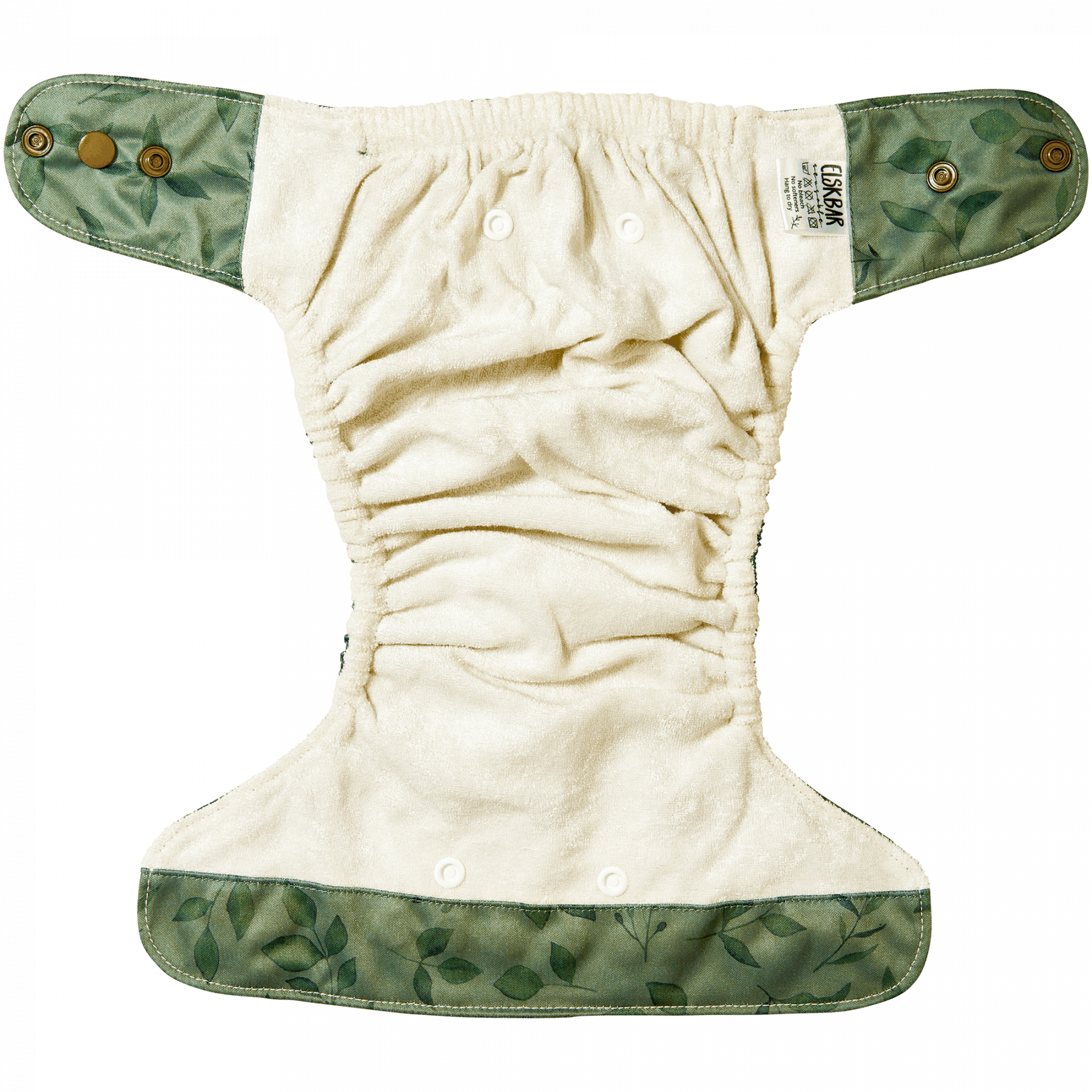 Natural Snap-In Twigs cloth Diaper Inside