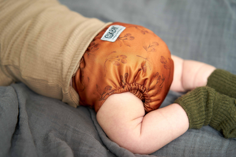 Newborn cloth diaper goji back