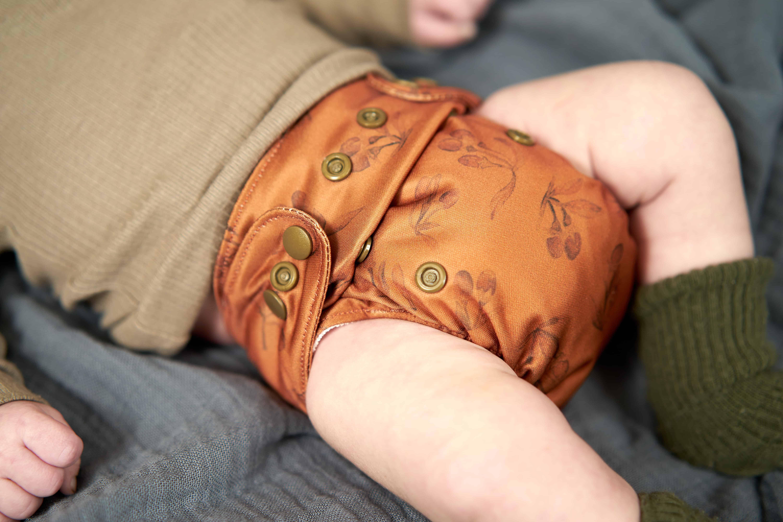 Newborn cloth diaper goji front