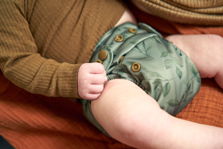 Newborn cloth diaper twigs front