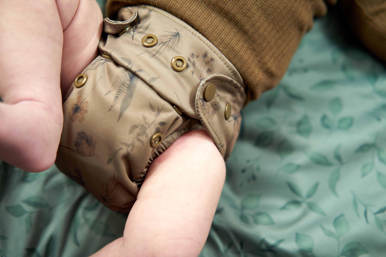 Newborn cloth diaper wildflowers